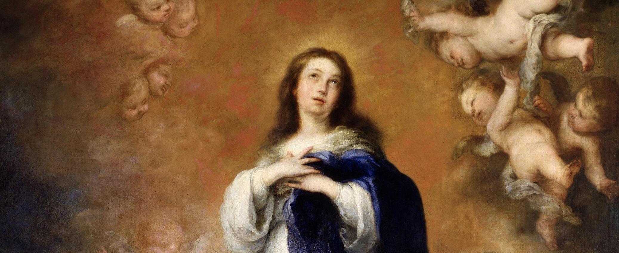 Murillo-Immacolata-concezione-dei-Venerabili-1679-olio-su-tela-270-x-190-cm-part.-Madrid-Museo-Nacional-del-Prado.